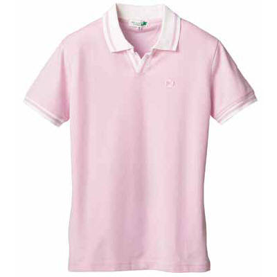 D-PHASE(ディーフェイズ) クロワッサンライフポロシャツ 男女兼用 ピンク M C06 (直送品)