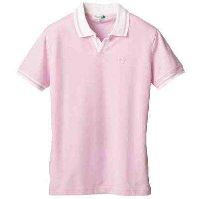 D-PHASE(ディーフェイズ) クロワッサンライフポロシャツ 男女兼用 ピンク L C06 (直送品)