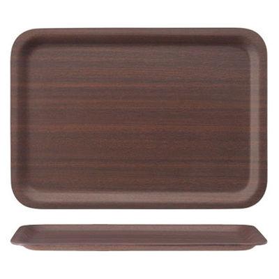 木製ノンスリップトレー マホガニー L 1枚