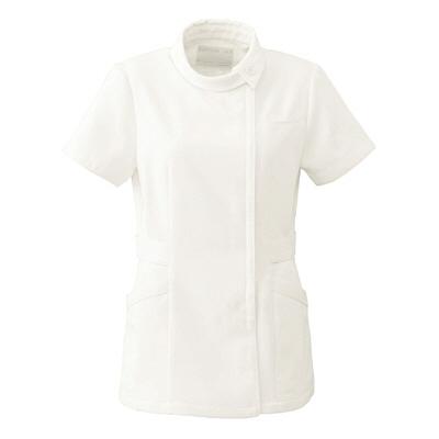 オンワード レディスジャケット(ナースジャケット) ロールカラー BR1039 オフホワイト L (取寄品)