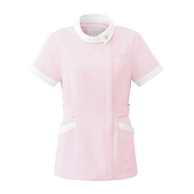 オンワード レディスジャケット(ナースジャケット) ロールカラー BR1041 ピンク EL (取寄品)