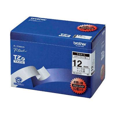 TZe-231V10白テープ黒文字12
