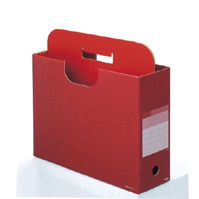 プラス ボックスファイル取っ手付き ベリーレッド A4-E 87646 1セット(5冊:1冊×5) (直送品)
