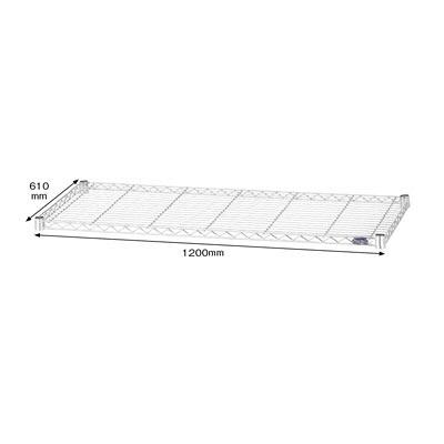 アイリスオーヤマ ポール直径25mm メタルラック 棚板 幅1200×奥行610mm 1枚 MR-1260T(直送品)