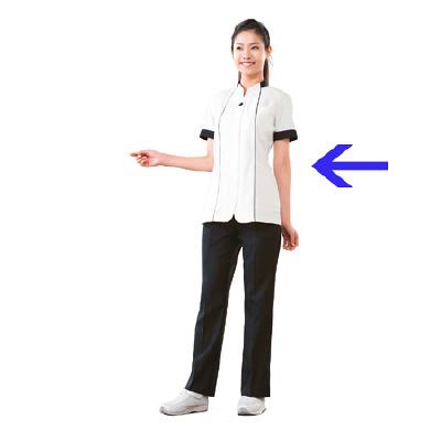 高浜ユニフォーム 女子 ジャケット 半袖 AN52651 オフホワイト S 1枚 (取寄品)