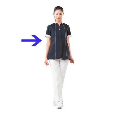 高浜ユニフォーム 女子 ジャケット 半袖 AN52657 ネイビー S 1枚 (取寄品)