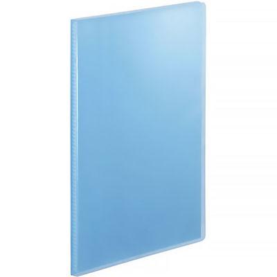 テージー クリアファイル 固定式20ポケット A4タテ 透明表紙 ブルー マイホルダー