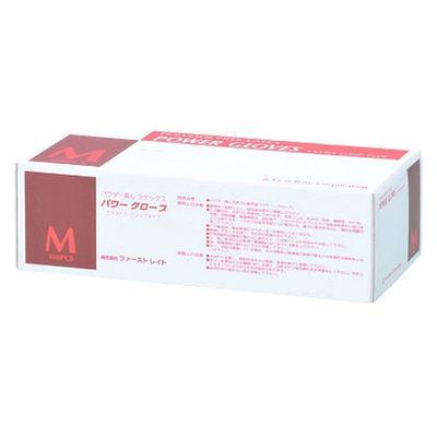 ファーストレイト パワーグローブ M 粉なし(パウダーフリー) ラテックス FR-962 1箱(100枚入) (使い捨て手袋)
