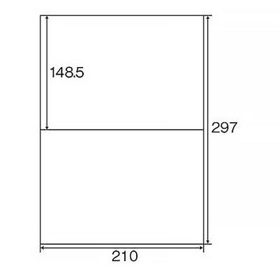 プラス Newいつものプリンタラベル 46631 ME-552T 2面 A4 1袋(100シート入)