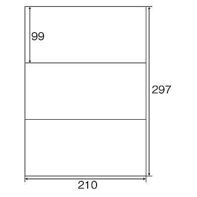 プラス Newいつものプリンタラベル 48632 ME-553T 3面 1袋(100シート入)×5袋