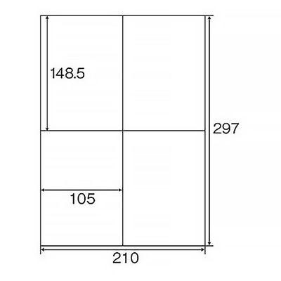 プラス Newいつものプリンタラベル 48868 ME-554S 4面 A4 1箱(500シート入)