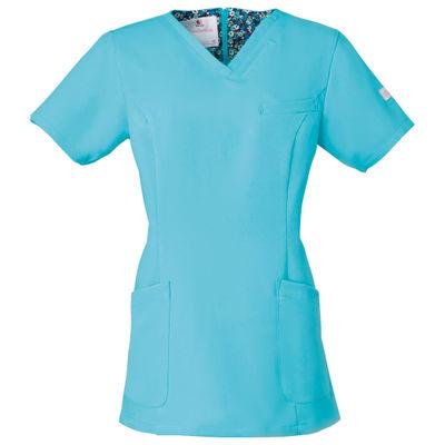 フォーク 医療白衣 ワコールHIコレクション レディススクラブ(後ろジップ) HI700ー2 グランディス L (直送品)
