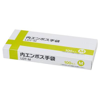 伊藤忠リーテイルリンク 内エンボス手袋 M LDT-M 1箱(100枚入) (使い捨て手袋)
