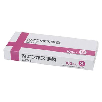 伊藤忠リーテイルリンク 内エンボス手袋 S LDT-S 1箱(100枚入) (使い捨て手袋)