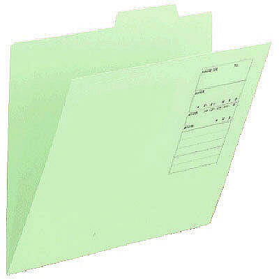 アスクル 個別フォルダー(無光沢ラミネート)グリーン A4 1山 86146 1セット(100枚:10枚入×10袋)