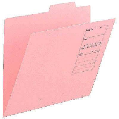 アスクル 個別フォルダー(無光沢ラミネート)ピンク A4 1山 86148 1セット(100枚:10枚入×10袋)