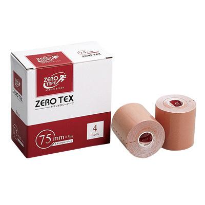 日進医療器 ZEROテックス(キネシオテープ) 75mm×5m 783423 1箱(4巻入) (取寄品)