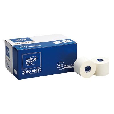 日進医療器 ゼロホワイトテープ非伸縮 50mm×13.75m 783434 1箱(12巻入) (取寄品)
