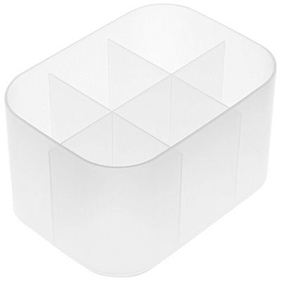 無印良品 ポリプロピレンメイクボックス・仕切付・1/2横ハーフ