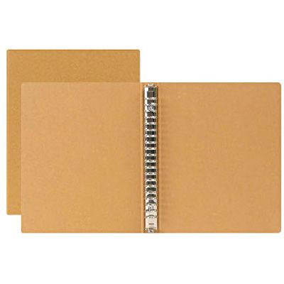 再生紙バインダー A5・20穴・ベージュ