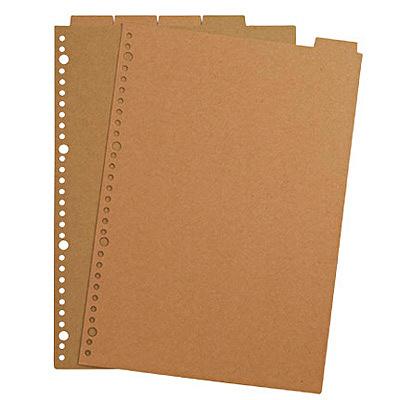 無印良品 再生紙インデックス・ベージュ A4サイズ・30穴・5山