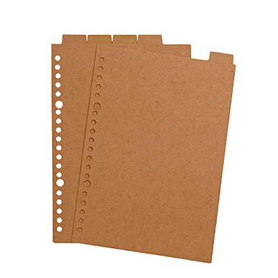 再生紙インデックス・ベージュA5・20穴
