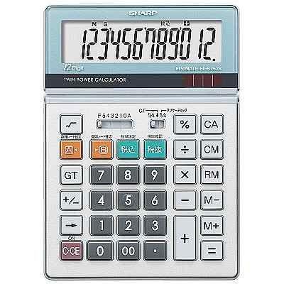 シャープ 12桁大型卓上電卓 EL-S752-K