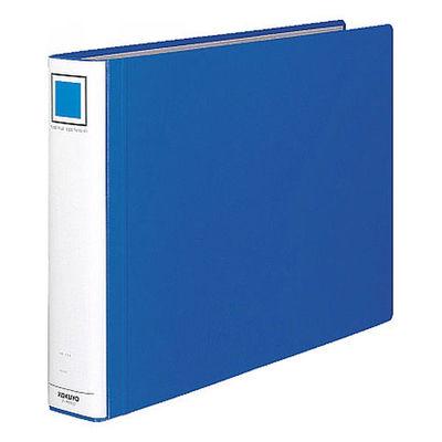 チューブファイル エコツインR A3ヨコ とじ厚50mm 青 12冊 コクヨ 両開きパイプ式ファイル フ-RT653B