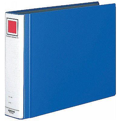 チューブファイル エコツインR B4ヨコ とじ厚50mm 青 12冊 コクヨ 両開きパイプ式ファイル フ-RT659B