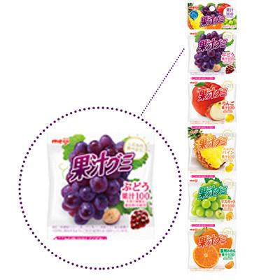 果汁グミ食べきり5連アソート