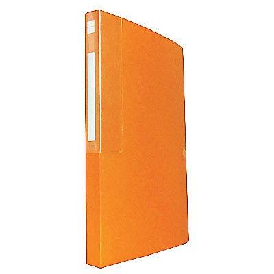 【アウトレット】アスクル クリアファイル固定式 A4タテ 48ポケット ネーブルオレンジ 86936 1セット(36冊:6冊入×6箱)