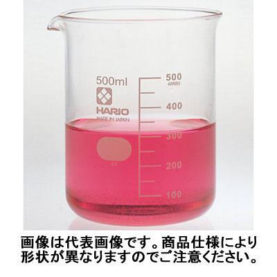 ハリオ(HARIO) ビーカー 目安目盛付 500mL 1個 6-214-06 柴田科学 (取寄品)