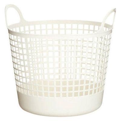 ラウンドバスケット ホワイト