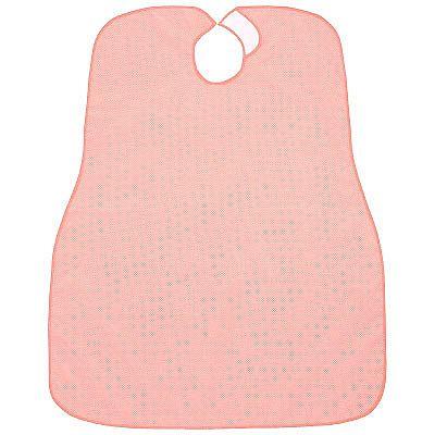 食事介護用エプロンオーバルドット柄ピンク