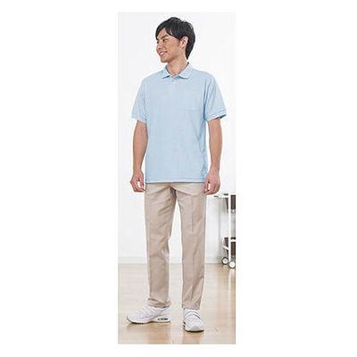 ポロシャツ(男女兼用) サックス L