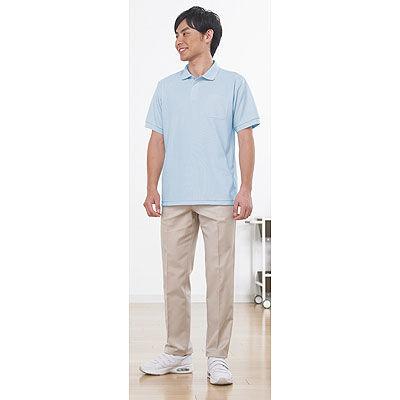 ポロシャツ(男女兼用) サックス S