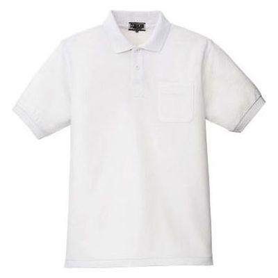 ポロシャツ(男女兼用) ホワイト L