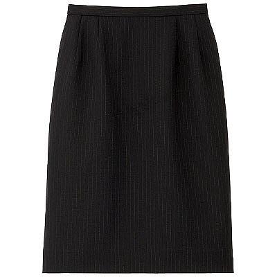 BON(ボン) 事務服 マニッシュライン ストレッチタイトスカート 9号 ネイビー×パープル HW2240A