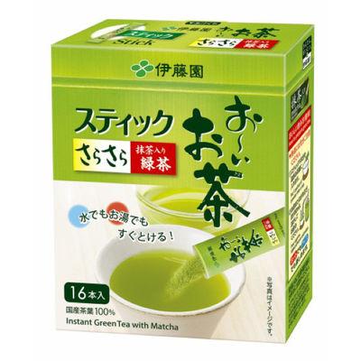 おーいお茶 さらさら抹茶入り緑茶 16本