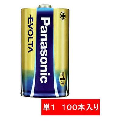 パナソニック アルカリ乾電池 エボルタ 単1形 LR20EJN/10S 1箱(100本入)