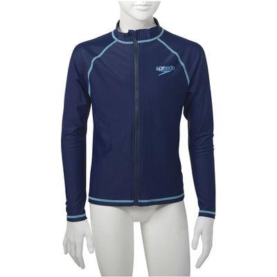 スピード 【ジュニア ラッシュガード】 ジュニアロングスリーブアクアシャツ 140 ネイビブルーターコイズブルー 1枚 GW SD65J17 NQ(取寄品)
