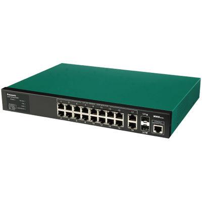 パナソニックESネットワークス PoE Plus対応 18ポートL2スイッチングハブ SwitchーM16eGLPWR+ PN28168 1台  (直送品)