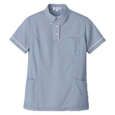 明石スクールユニフォームカンパニー レディース半袖ロングプルオーバーシャツ ネイビー 9 UZQ803-5-9 (直送品)