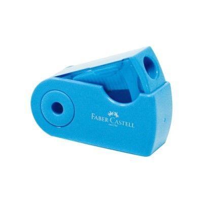 シヤチハタ ファーバーカステル 鉛筆削り(角型ミニ) ブルー TFC-182702/H-1 10個 (直送品)