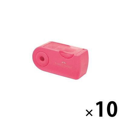 シヤチハタ ファーバーカステル 鉛筆削り(角型ミニ) ピンク TFC-182702/H-2 10個 (直送品)