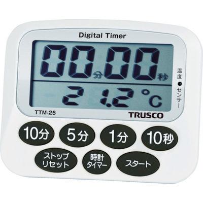 アスクル トラスコ中山 trusco 温度計付タイマー ttm 25 1個 781 3465