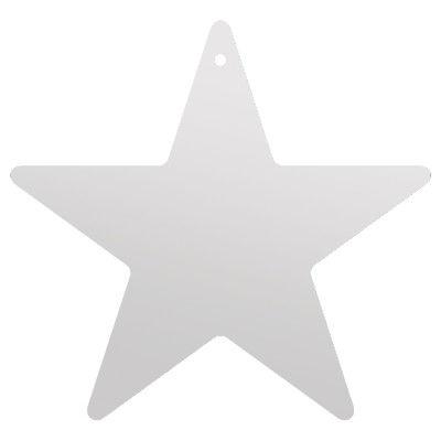 ササガワ 七夕飾り 星型短冊(穴アキ)・銀 46-6181 1セット(5冊:1冊×5) (取寄品)