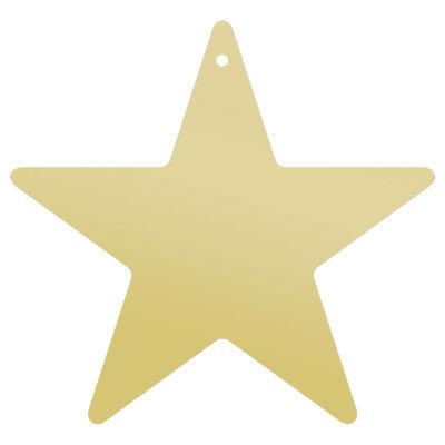 ササガワ 七夕飾り 星型短冊(穴アキ)・金 46-6180 1セット(5冊:1冊×5) (取寄品)