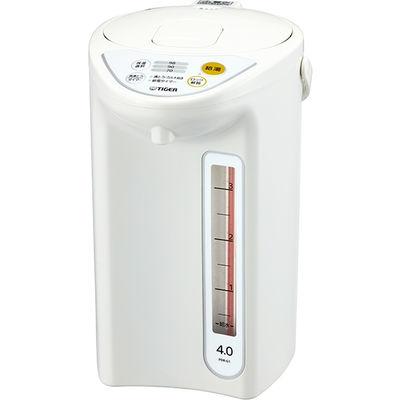 タイガー魔法瓶 マイコン電動ポット 4.0L ホワイト PDR-G401W 1台  (直送品)