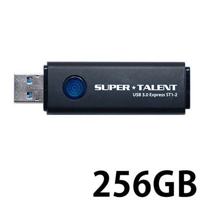 SuperTalent USB3.0フラッシュメモリ 256GB ワンプッシュスライド式 ST3U56ES12 1個  (直送品)